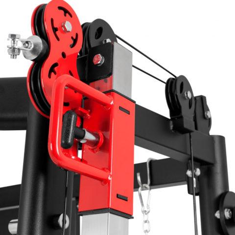 В качестве весовой нагрузки всех элементов мультистанции необходимо использовать свободные веса (диски) с посадочным диаметром 51мм (опция