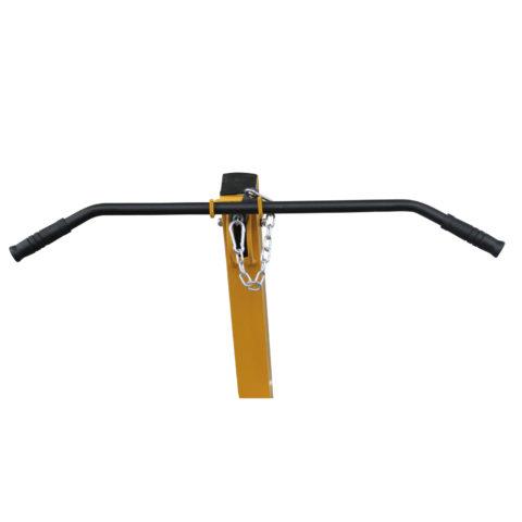 Мощная рама из стального профиля 75х75 мм и толщиной 2 мм.
