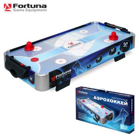 Аэрохоккей Fortuna HR-31 Blue Ice Hybrid настольный 86х43х15см настольный 84 х 41 см