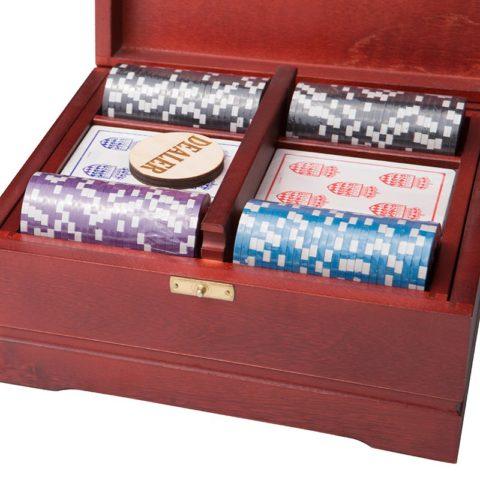Набор для покера Ultimate VIP на 250 фишек Красное Дерево Rovertime