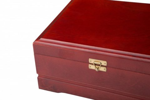 Набор для покера Ultimate VIP на 250 фишек Красное Дерево ultvip250r