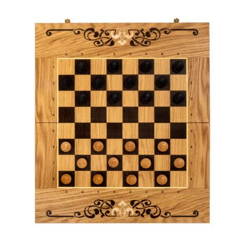 Шахматы + Шашки + Нарды 45мм