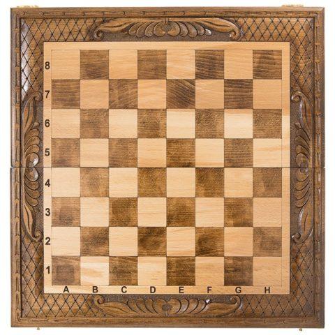 Шахматы + нарды резные 50 Mirzoyan
