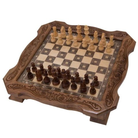 Шахматы резные в ларце 40 ma404