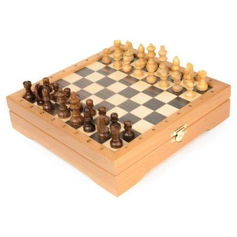 Мини-шахматы деревянные 22х22 см RTC-3127n
