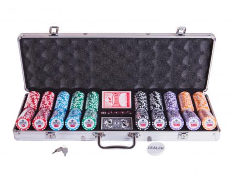 Набор для покера Premium Crown на 500 фишек pcrw500