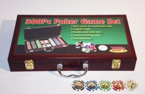 Набор для покера Wood на 300 фишек w300