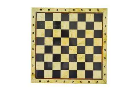 Шахматная доска малая без рамки 25*25 yantar08