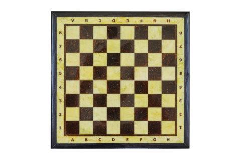 Шахматная доска малая с рамкой 25*25 yantar09