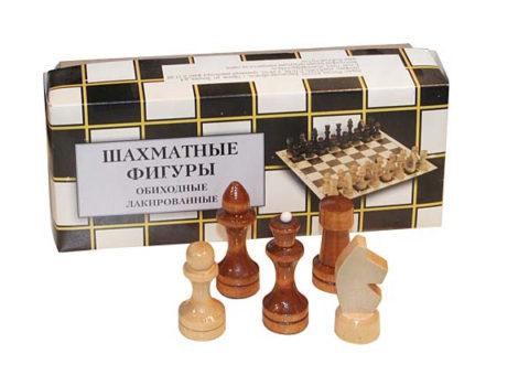 Шахматные фигуры обиходные лакированные (Орлов) Р-7