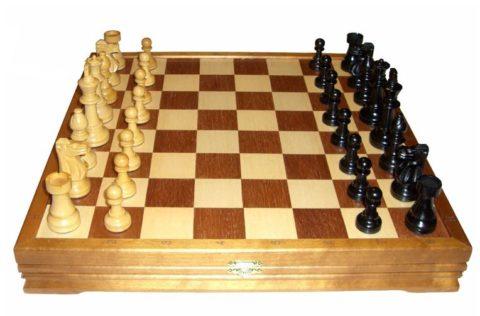 Шахматы классические деревянные 43х43 см Rovertime