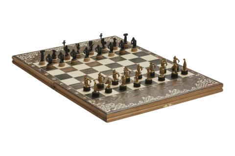 """Шахматы малые """"Галлы-Римляне"""" чернение RTS-72.Z"""