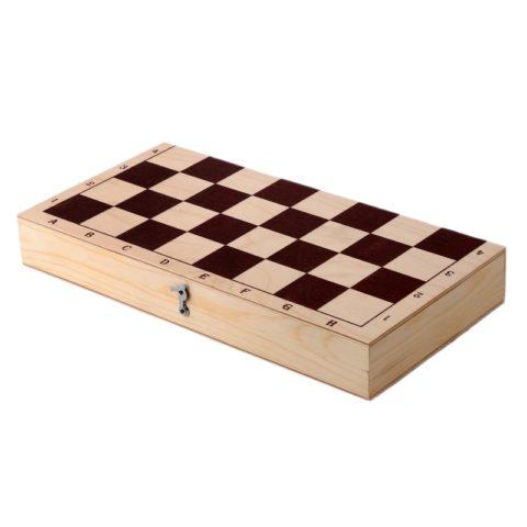 Шахматы обиходные лакированные в комплекте с доской (Орлов) Орловская ладья