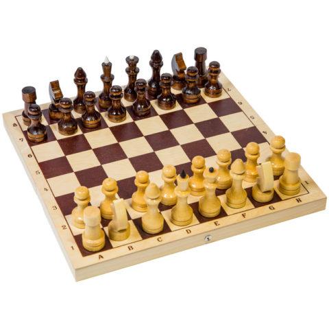 Шахматы обиходные лакированные в комплекте с доской (Орлов) P-1