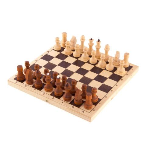Шахматы обиходные парафинированные в комплекте с доской (без подклейки) (Орлов) P-3