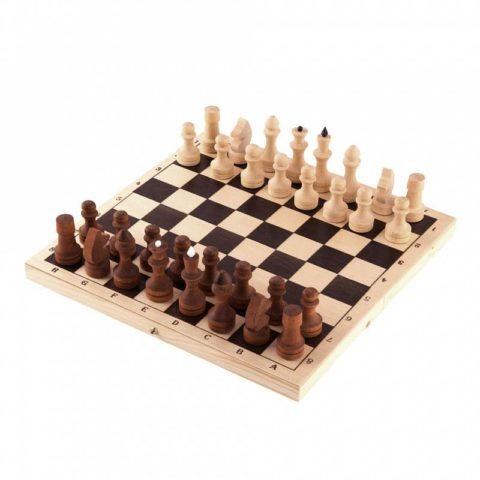 Шахматы обиходные парафинированные в комплекте с доской (Орлов) Орловская ладья