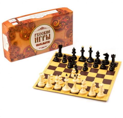 """Шахматы """"Айвенго"""" с доской из микрогофры Владспортпром"""