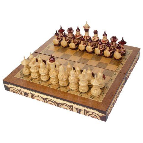 Шахматы резные ручной работы дорожные slchess30