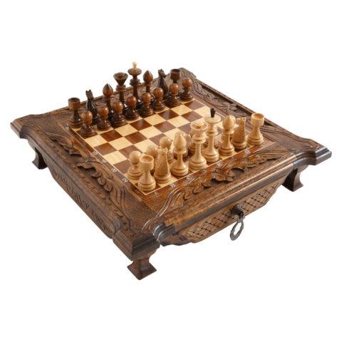 Шахматы резные в ларце с ящиками 40