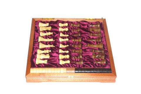 Шахматы + шашки деревянные 37х37 см Rovertime
