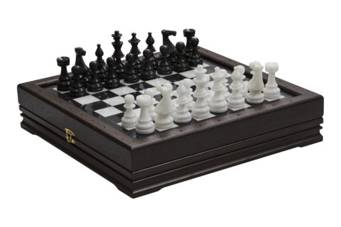 Шахматы стандартные каменные 34х34 см (2