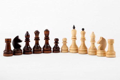Шахматы турнирные лак с темной доской Орловская ладья