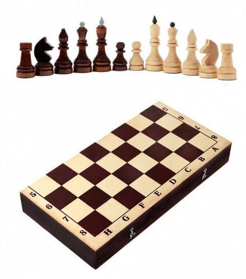 Шахматы турнирные парафинированные с темной доской Орловская ладья