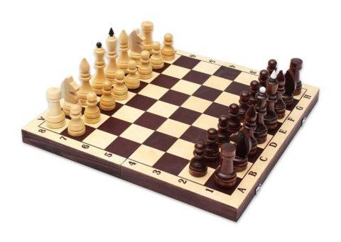 Шахматы турнирные парафинированные с темной доской Е-9