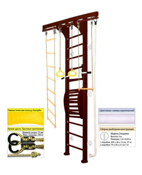 Шведская стенка с турником в квартиру Wooden ladder Maxi Wall