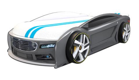 Ауди Манго Графит - кровать-машинка. Серия Манго с подъемным матрасом производитель КарлСон 24