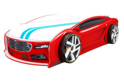 Ауди Манго Красная - кровать-машинка. Серия Манго с подъемным матрасом производитель КарлСон 24