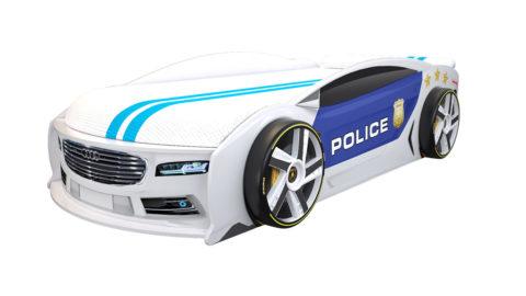 Ауди Манго Полиция 2 - кровать-машинка. Серия Манго с подъемным матрасом производитель КарлСон 24