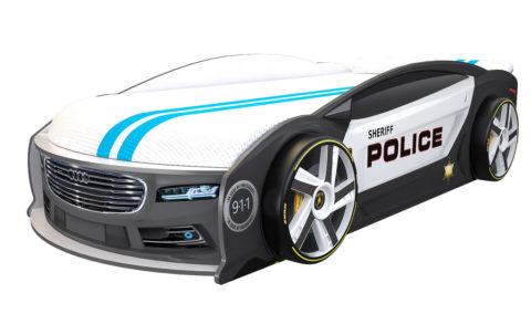 Ауди Манго Полиция - кровать-машинка. Серия Манго с подъемным матрасом производитель КарлСон 24