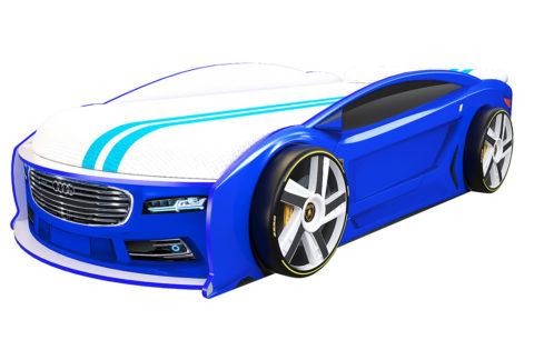 Ауди Манго Синяя - кровать-машинка. Серия Манго с подъемным матрасом производитель КарлСон 24