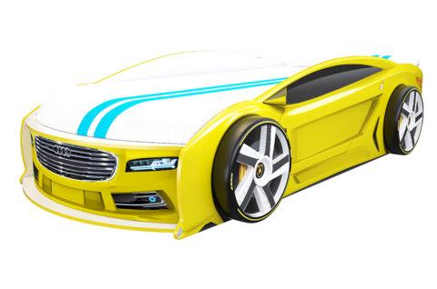 Ауди Манго Желтая - кровать-машинка. Серия Манго с подъемным матрасом производитель КарлСон 24