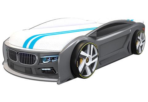 БМВ Манго Графит - кровать-машинка. Серия Манго с подъемным матрасом производитель КарлСон 24