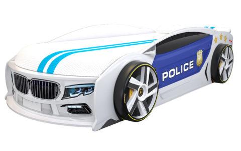 БМВ Манго Полиция 2 - кровать-машинка. Серия Манго с подъемным матрасом производитель КарлСон 24