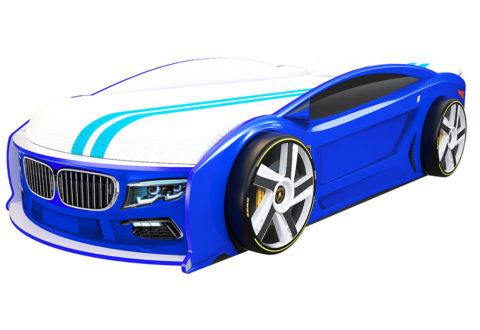 БМВ Манго Синяя - кровать-машинка. Серия Манго с подъемным матрасом производитель КарлСон 24