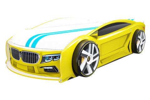 БМВ Манго Желтая - кровать-машинка. Серия Манго с подъемным матрасом производитель КарлСон 24