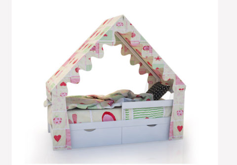 """Кровать-домик """"SCANDI"""" Белый - кровать-машинка. Кровати-домики """"SCANDI"""" производитель КарлСон 24"""