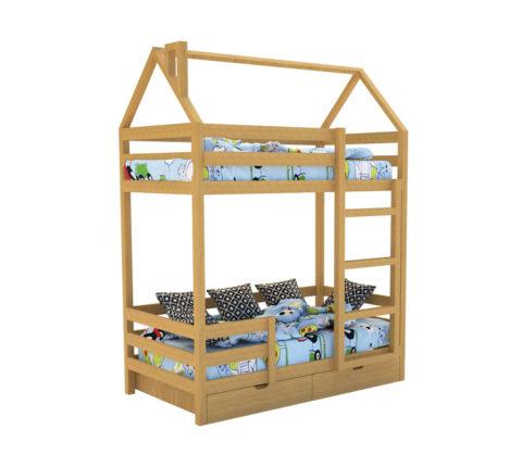 """Кровать-домик """"SCANDI"""" Двухъярусная Дерево - кровать-машинка. Кровати-домики """"SCANDI"""" Двухъярусная производитель КарлСон 24"""
