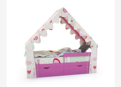 "Кровать-домик ""SCANDI"" розовый - кровать-машинка. Кровати-домики ""SCANDI"" производитель КарлСон 24"