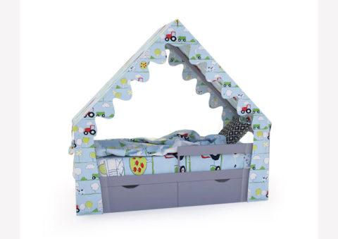 """Кровать-домик """"SCANDI"""" серый - кровать-машинка. Кровати-домики """"SCANDI"""" производитель КарлСон 24"""