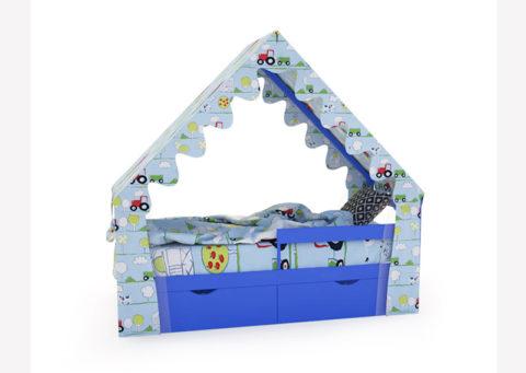"Кровать-домик ""SCANDI"" синий - кровать-машинка. Кровати-домики ""SCANDI"" производитель КарлСон 24"