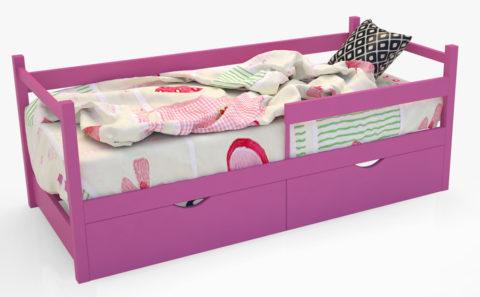 """Кровать-тахта """"SCANDI"""" розовый - кровать-машинка. Кровати-тахта """"SCANDI"""" производитель КарлСон 24"""