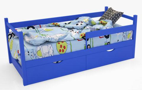 """Кровать-тахта """"SCANDI"""" синий - кровать-машинка. Кровати-тахта """"SCANDI"""" производитель КарлСон 24"""