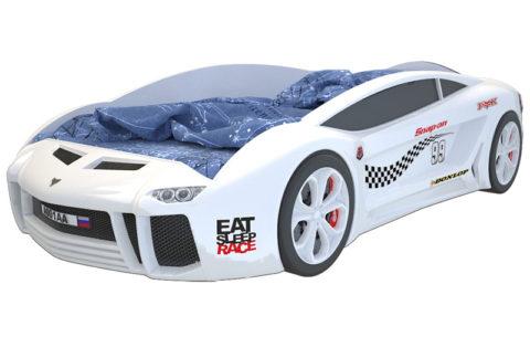 Ламба Next Белая 2 - кровать-машинка. Серия Ламба Next производитель КарлСон 24