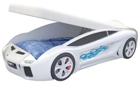 Ламба Next Белая c подъемным механизмом - кровать-машинка. Серия Ламба Next с подъемным механизмом производитель КарлСон 24