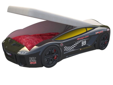 Ламба Next Черная с подъемным механизмом - кровать-машинка. Серия Ламба Next с подъемным механизмом производитель КарлСон 24