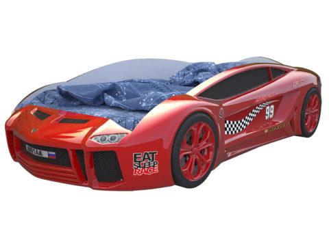 Ламба Next Красная 2 - кровать-машинка. Серия Ламба Next производитель КарлСон 24